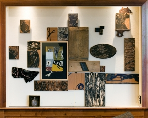 2007 Installation, cutting boards, panels, prints. 6